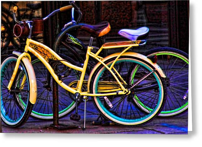Two Bikes Greeting Card