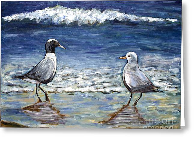 Two Birds With Foam Greeting Card