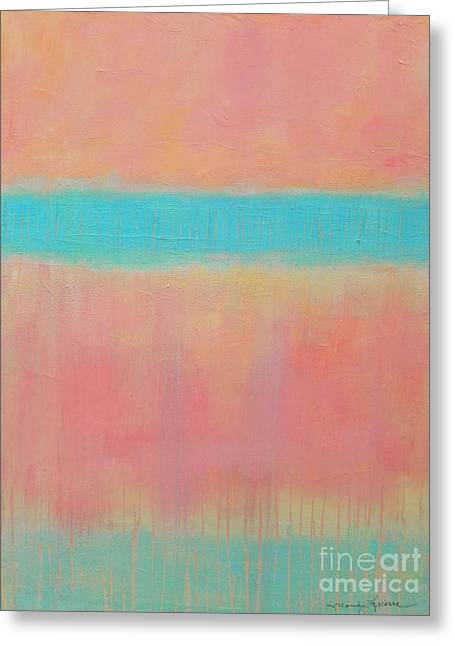 Two Blue Lines Greeting Card by Kate Marion Lapierre