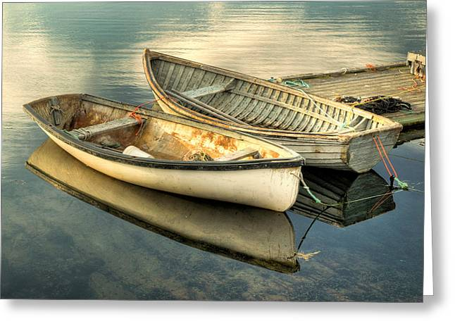 Greeting Card featuring the photograph Two Boats At Peggys Cove by Rob Huntley