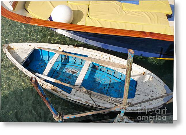 Greeting Card featuring the photograph Two Boats by Mike Ste Marie