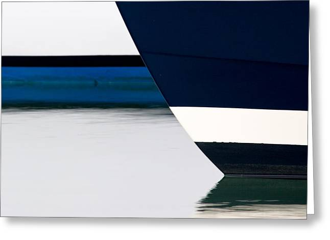 Two Boats Moored Greeting Card by CJ Middendorf