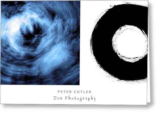 Two Circles Greeting Card by Peter Cutler