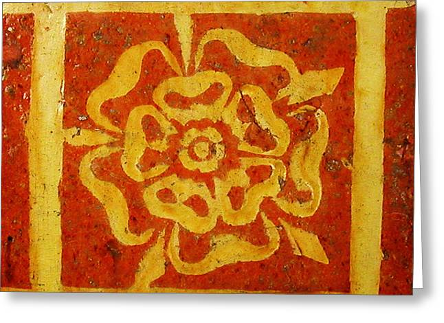 Two-colored Tile Greeting Card by Celestial Images
