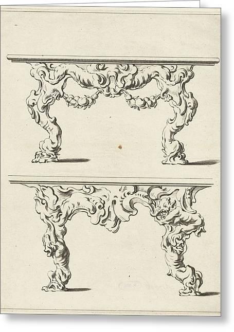 Two Console Tables Greeting Card by Pieter Hendricksz. Schut And Gerbrand Van Den Eeckhout And Nicolaes Visscher (i)