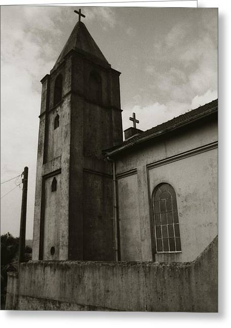 Greeting Card featuring the photograph Two Crosses by Amarildo Correa