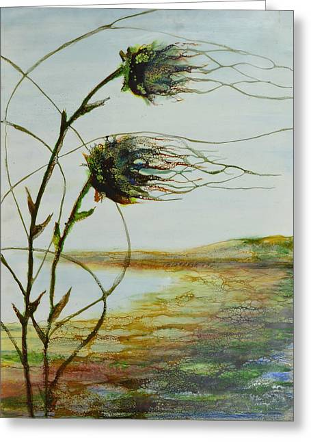 Two Flowers By The Bay Greeting Card