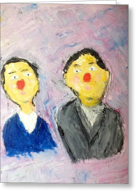 Two Frenchmen  Greeting Card by Richard Fletcher