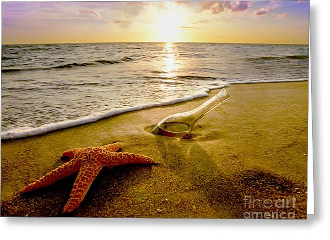 Two Friends On The Beach Greeting Card by Jon Neidert