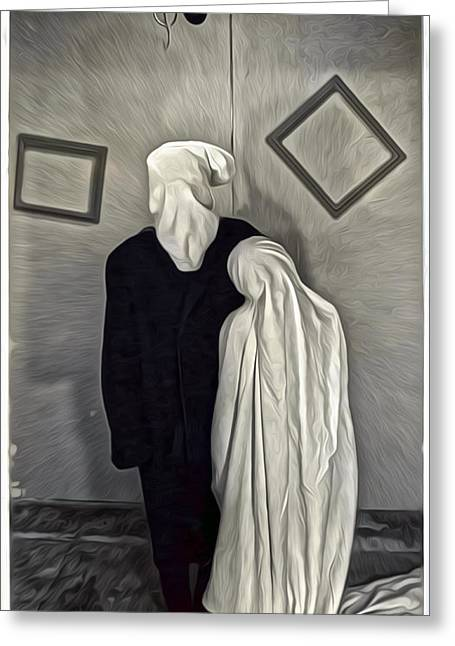 Two Ghosts Greeting Card by Gregory Dyer
