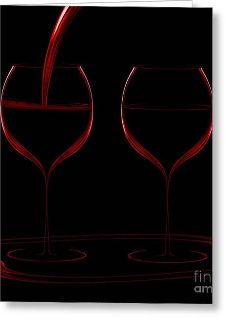 Two Glass Red Greeting Card