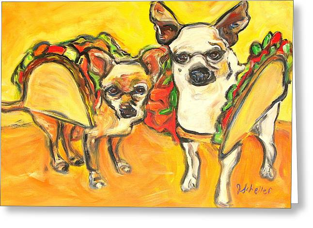 Two Good Tacos Greeting Card by Jodie  Scheller