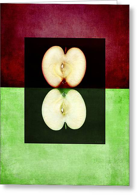 Two Halves Greeting Card by Fran Riley