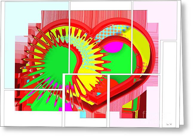 Two Hearts Are Better Than One Greeting Card by Liane Wright