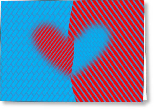 Two Hearts Greeting Card by Manju Lata