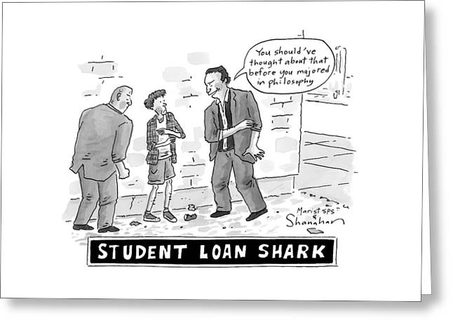 Two Henchman -- Student Loan Sharks -- Approach Greeting Card