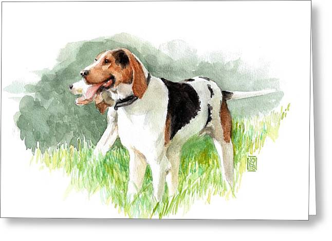 Two Hounds Greeting Card by Debra Jones