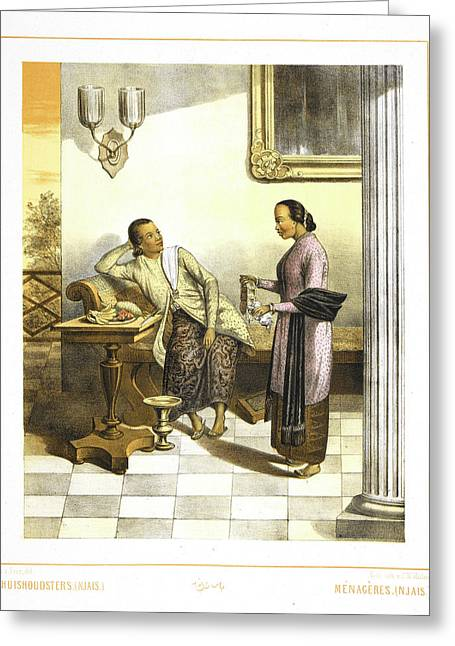 Two Housewives. People Of Indonesia Greeting Card by British Library