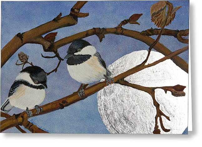 Two In The Bush Greeting Card by Amy Reisland-Speer