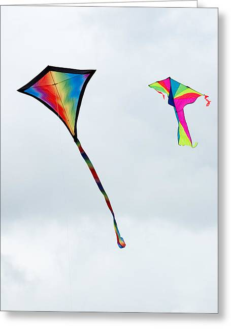 Two Kites At The Windscape Kite Festival 2011 Greeting Card
