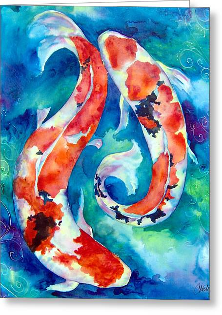 Two Koi Fish Greeting Card