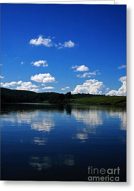 Two Lakes Greeting Card by Sarah Sutherland