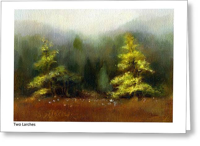 Two Larches Greeting Card