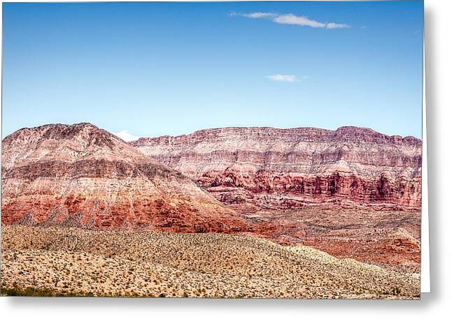Two Layered Mountains Greeting Card by  Onyonet  Photo Studios