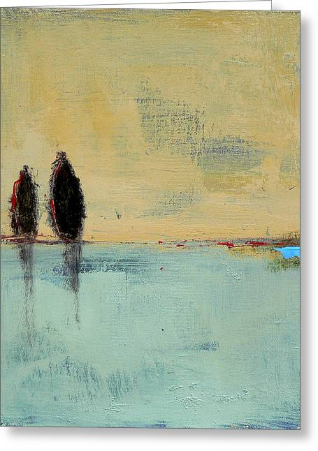Two Lovers On The Line Greeting Card by Jacquie Gouveia