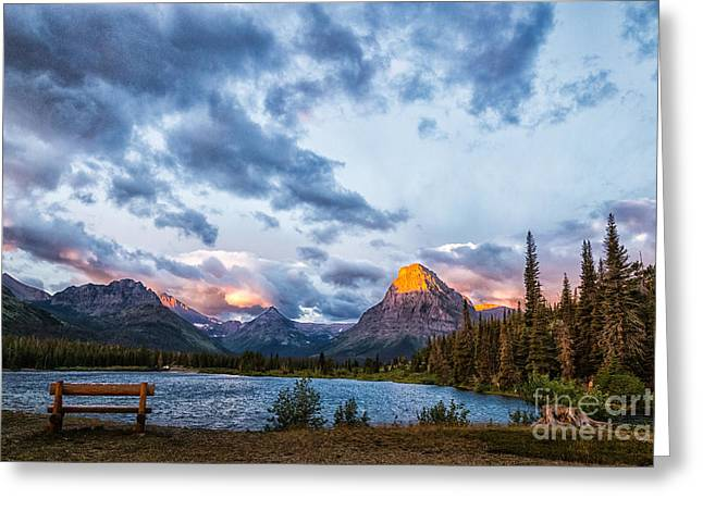 Two Medicine Lake Sunrise Greeting Card