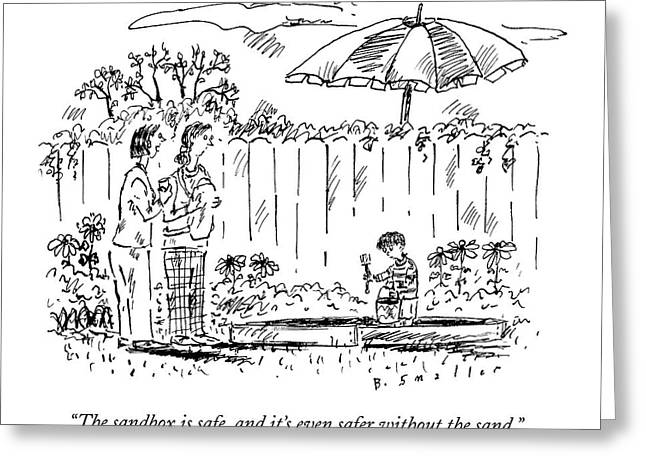 Two Mothers Are Standing In A Backyard Next Greeting Card