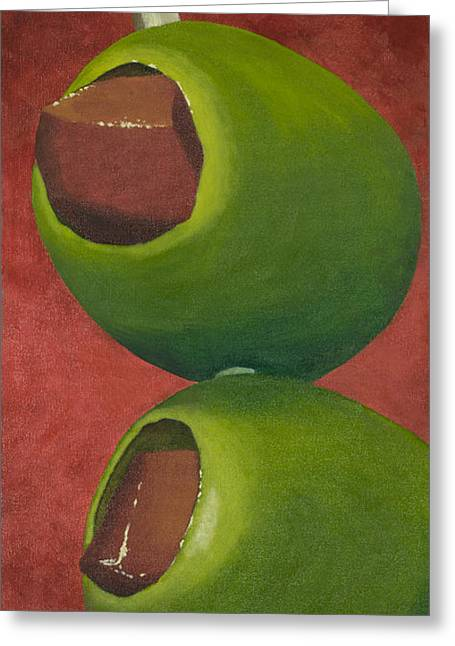 Two Olives In Search Of A Bloody Mary Greeting Card by Garry McMichael