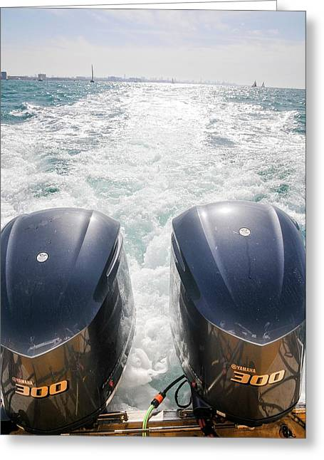Two Outboard Engines Greeting Card by Photostock-israel