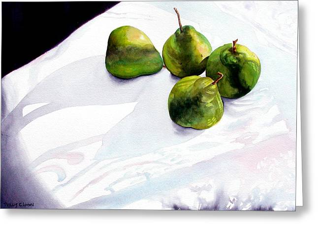 Two Pair Of Pears Greeting Card