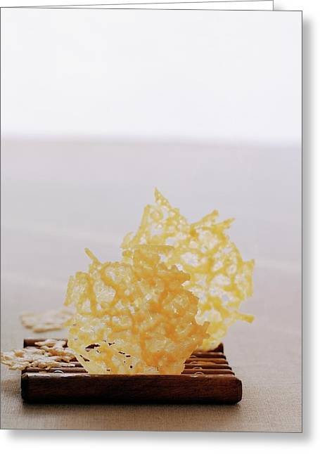 Two Parmesan Onion Puffs Greeting Card by Romulo Yanes