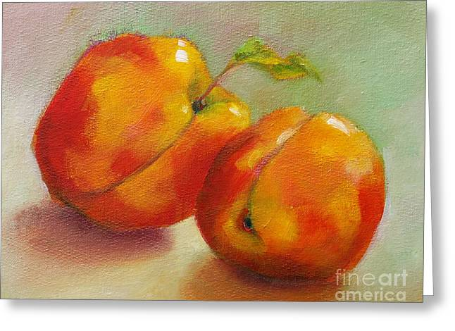 Two Peaches Greeting Card by Michelle Abrams