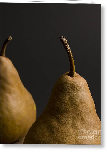 Two Pears Greeting Card by Jennifer Kay Fogle