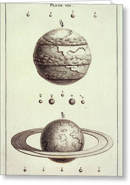 Two Planets Greeting Card by British Library