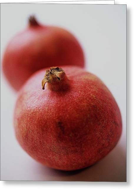 Two Pomegranates Greeting Card