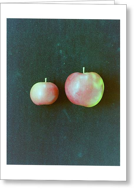 Two Red Apples Greeting Card