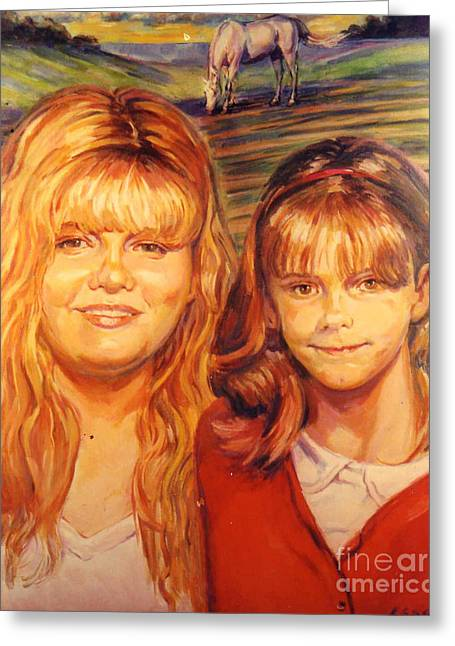 Two Sisters Greeting Card by Stan Esson