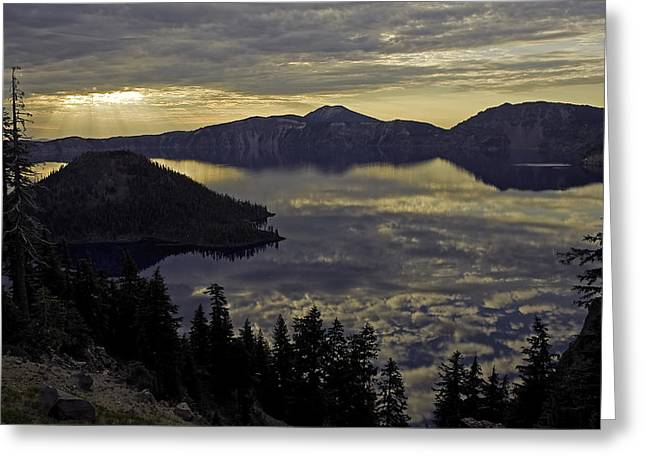 Two Skys At Sunrise Greeting Card by Gary Neiss