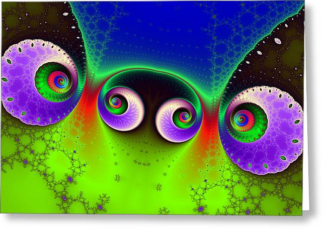 Two Spirals And A Glynn Greeting Card by Mark Eggleston