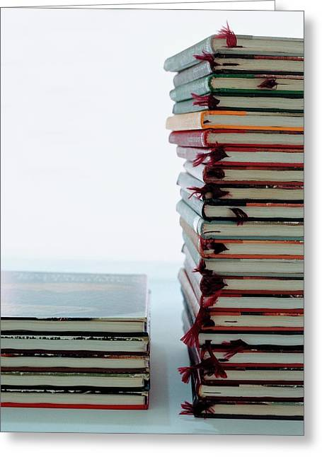 Two Stacks Of Books Greeting Card
