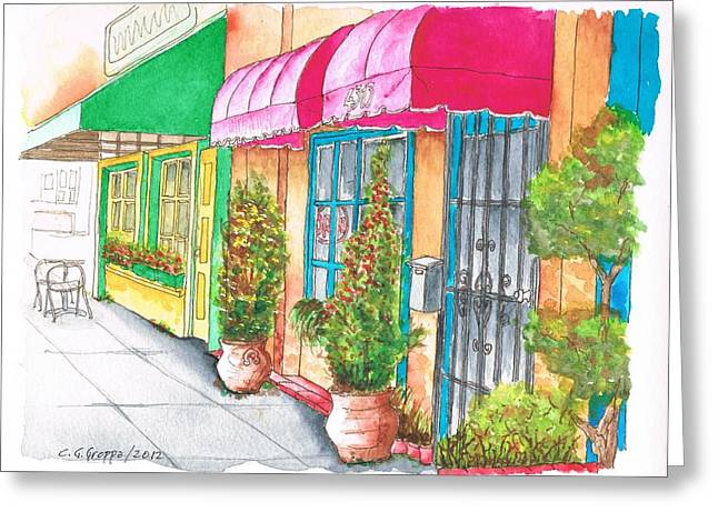 Two Stores In Riverside Ave - Toluca Lake - California Greeting Card by Carlos G Groppa