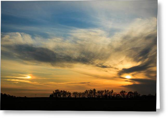 Greeting Card featuring the photograph Two Suns Over Kentucky by Peta Thames