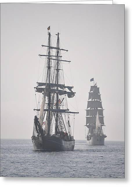 Two Tall Ships In Door County Greeting Card