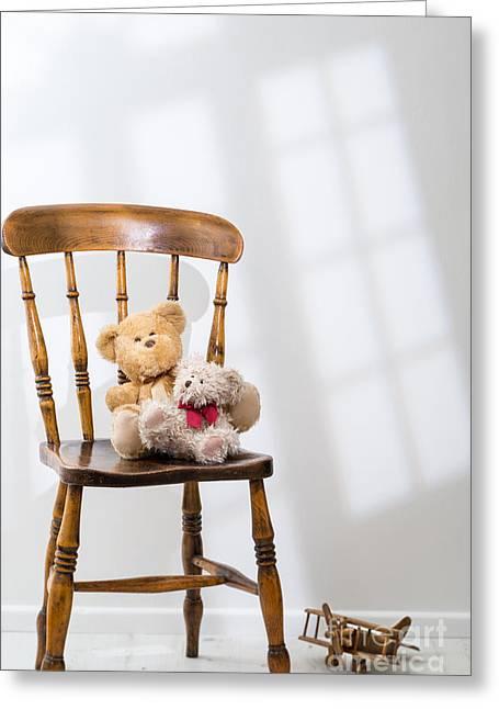 Two Teddies Greeting Card by Amanda Elwell