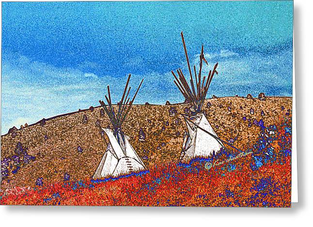 Two Teepees Greeting Card