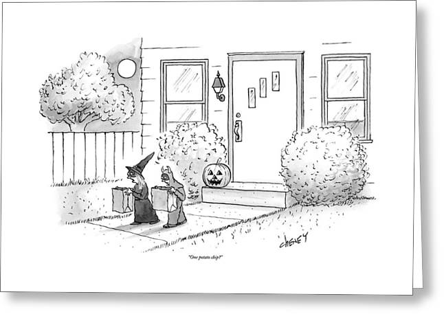 Two Tirck-or-treaters--one Is A Witch Greeting Card